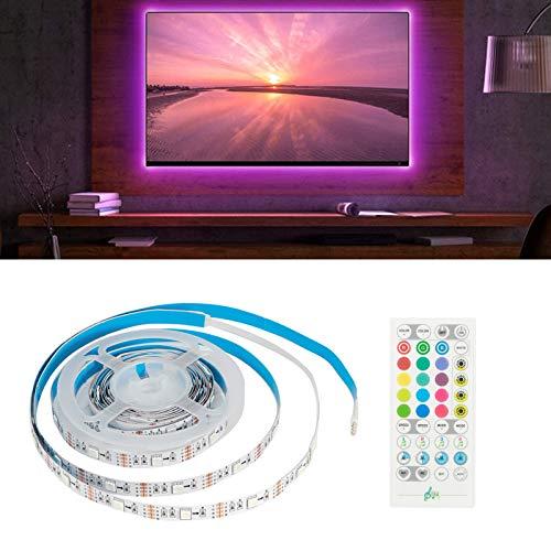 Luces de tira, luces de tira LED de control de sonido wifi inteligente, para dormitorio, bar de sala de estar, restaurante, Ktv, pared de TV de escenario, TV de pared de fondo, fondo de