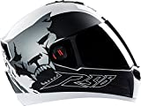 Steelbird Air - Beast Glossy Finish with Smoke Visor (Medium 580MM, Glossy White with Grey)