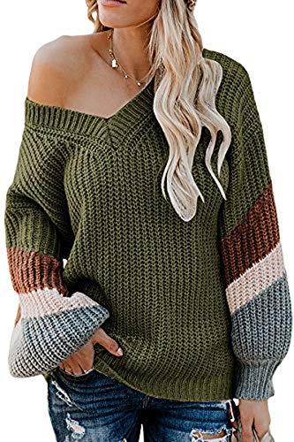 V-Neck Vintage Pullover - 7