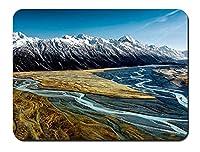 フッカー?バレー、アオラキ?マウントクック、ニュージーランド、山、川 パターンカスタムの マウスパッド 旅行 風景 景色 (22cmx18cm)