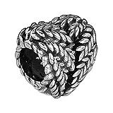 LILANG Pandora 925 Jewelry Bracelet Icono de Plata esterlina Genuina Natural de la Naturaleza Charm Big Hole Beads Se Adapta a Charms Bead para Mujeres Enteras DIY Gift