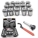 15-tlg Spannzangen ER32 HaroldDol Spannzangenfutter MK3 M12 für CNC Industrie Fräsmaschinen + Schlüssel Case