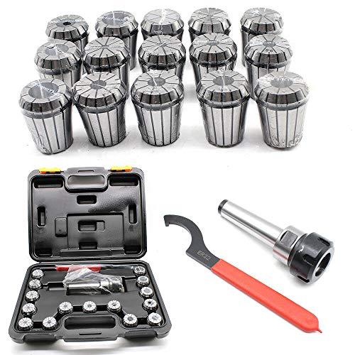 OUKANING Spannzangensatz ER32 für CNC Fräse Ø 3-20 mm +MK3 M12 Spannzangenfutter+Schlüssel