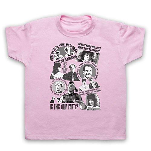 Camiseta para niños de la película Sci Fi de Death To Videodrome Weird Spoiler Rosa rosa claro pecho 76 cm/7- 8 años