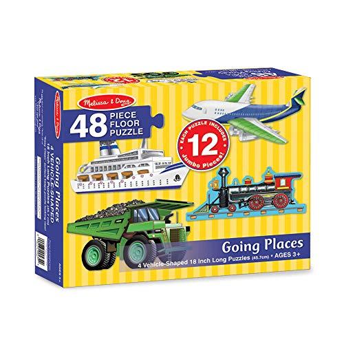Melissa & Doug Going Places Vehicles Floor Puzzles (4 puzzles, 12 pieces each)