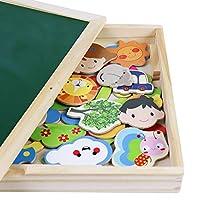 Puzzle Magnetico Legno Lavagna Magnetica Doppio Lato Puzzle di Legno Giochi Educativi per Bambini 3 4 5 Anni #4