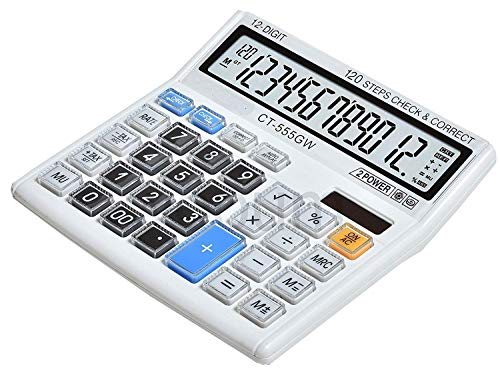 Neel Financial and Business Office Desktop Calculator (White)