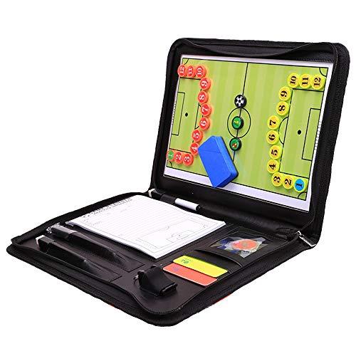 ranrong Taktische Fußball-Mappe, Fußball-Tafel, Magnet-Coach-Board für Trainer, mit Bleistift, Radiergummi, Reißverschluss