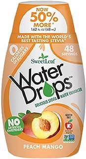SweetLeaf Peach Mango Water Drops1.62 Ounces (Pack of 6)