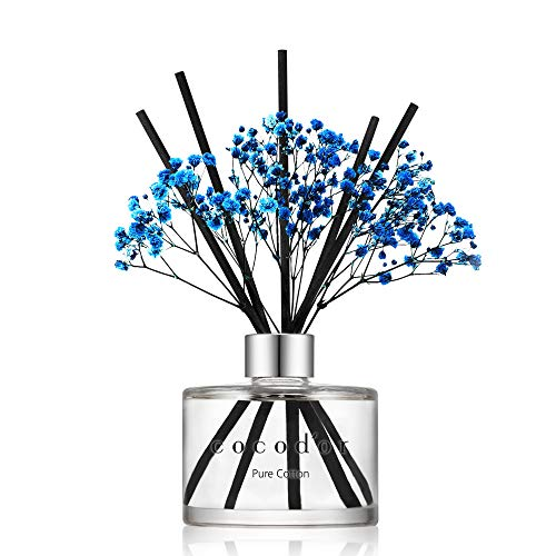 Cocod'or Preserved Real Flower Reed Diffuser/Pure Cotton / 6.7oz(200ml) / 1 Pack/Reed Diffuser Set, Oil Diffuser & Reed Diffuser Sticks, Home Decor &...