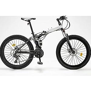 51O+3gDac+S. SS300 GWL Bici Pieghevole, Bike Unisex-Adult, 24 26 Pollici Sport all'Aria Aperta in Acciaio al Carbonio MTB Bicicletta, Cerchio in Alluminio, Bici della Città