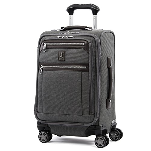 Travelpro Platinum Elite-Softside Expandable Spinner Wheel Luggage, Vintage Grey, Carry-On 20-Inch