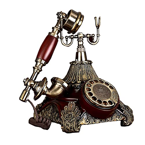 XIAOPENG Teléfonos Rotativos Antiguos Teléfono Fijo con Cable Teléfono Antiguo Decoración de Oficina en Casa Teléfono Fijo con Tono de Llamada Doble Conecte la Línea Telefónica para Usar
