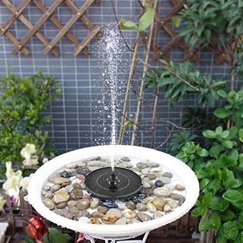Springbrunnen 2.4W Solar Pumpe mit 4 Düsen LED Solarbetriebene Wasserpumpe Dekorationen für Gartenteich Vogelbäder, Aquarien, Wassertanks und Garten