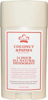 Nubian Heritage 24 Hour All Natural Deodorant Coconut Papaya with Vanilla Oil 2.25 oz (64 g)