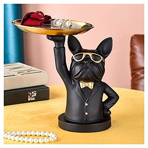 Bandeja decorativa, única bandeja organizadora de joyas con gafas de sol, decoración de mesa de centro para sala de estar, figuras de escultura de arte de resina, regalo de inauguración de la casa