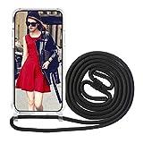 FMPCUON Cover Trasparente con Cordino per Samsung Galaxy S30 Ultra/ S21 Ultra, Corda Neckl...