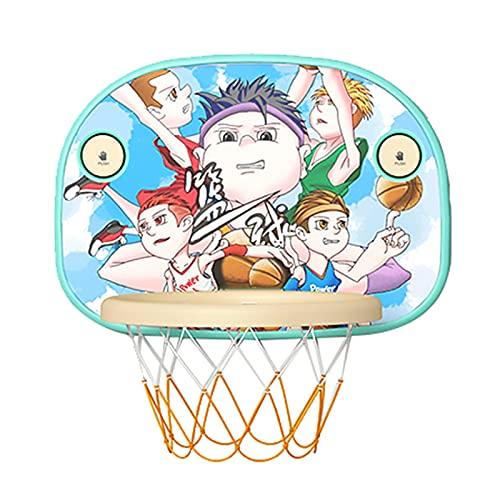 ZXQZ Mini Aro Baloncesto con Pelotas, Juego Juguetes Baloncesto para Niños Amantes del Baloncesto Niños Niñas Diversión Interior Al Aire Libre (Color : Style4)