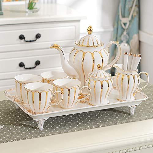 Fantastic Deal! Tea Set Home Afternoon Tea Ceramic Combination Contains Teapot Teacup Milk Jug Sugar...