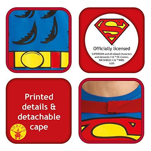 RUBIES, Maglietta superman con attaccato mantello (taglia media)
