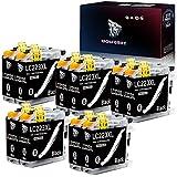 Wolfgray LC 223 Cartuchos de Tinta Compatibles para Brother LC223 XL LC223 DCP-J4120DW DCP-J562DW MFC-J5620DW J4625DW J5625DW J5320DW J4420DW J480DW J4620DW J5720DW J880DW J680DW (10BK)