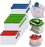 DoDoLar Obstbeutel und Gemüsebeutel Wiederverwendbare Gemüsenetz Umweltfreundliche Mehrwegbeutel Einkaufstaschen aus