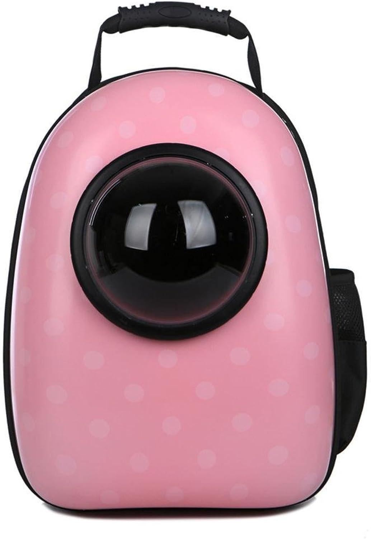 Dixinla Pet Carrier Backpack Pet bag out Portable space cabin pet backpack cat doggy bag 32  26  44cm PVC