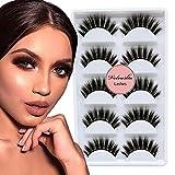 Veleasha 5D Faux Mink Lashes Handmade Luxurious Volume Fluffy Natural False Eyelashes 5 Pairs | Princess