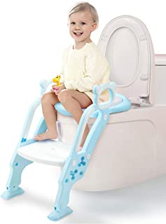GrowthPic Potty Training Seat - Toddler Potty Seat with Sturdy Non-Slip Ladder Step for Toddler Toilet Training, Potty Chair, Step Stool Ladder