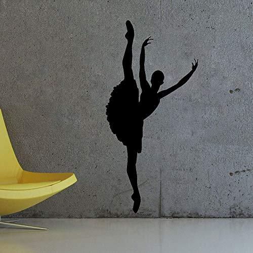 yaonuli Vinyl Aufkleber Ballett Aufkleber Ballerina Gymnastik Tänzer Dekoratives Wandbild Abnehmbar 20X42cm