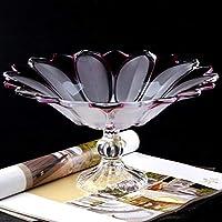 フルーツトレイ、フルーツボウル、ケーキスタンド、プラッター丸ガラス板や誕生日、パーティーのためのアンティークslassペデスタルデザートカップケーキの表示ホルダー、結婚式、ホームサービング (Color : B)