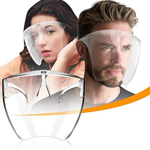OHYONIZ Blocc Face Shield Protective Face Cover, Volltransparenter Gesichts- und Augenschutz für Speichelschutz | Winddicht | staubdicht, für Männer und Frauen