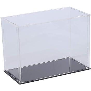 iplusmile クリア 長方形 おもちゃ ディスプレイ ボックス 透明 アセンブリ ディスプレイ ケース ショーケース コレクション モデル ケース -20x10x15cm