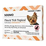Amazon Brand - Solimo Flea and Tick Topical Treatment for Dogs, For Small Dogs...
