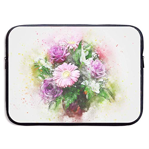 JKOVE Laptoptasche Notebooktasche,Laptop Sleeve Case Protective Bag Printed Abstract Art Watercolor Flowers Ultrabook Briefcase Sleeve Bags Cover Aktentasche for MacBook Pro/Acer/Asus/Lenovo Dell