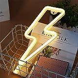 ENUOLI Neonlicht-Zeichen LED-Blitz formte Nachtlicht-Wand-Dekor Lichtdurchgeführt von USB/Batterie...