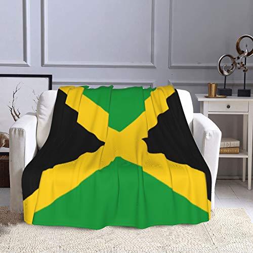 Manta de forro polar con bandera de Jamaica para sofá, cama, sofá, oficina y sala de estar, 127 x 152 cm