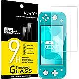 NEW'C 2 Unidades, Protector de Pantalla para Nintendo Switch lite, Antiarañazos, Antihuellas, Sin Burbujas, Dureza 9H, 0.33 mm Ultra Transparente, Vidrio Templado Ultra Resistente