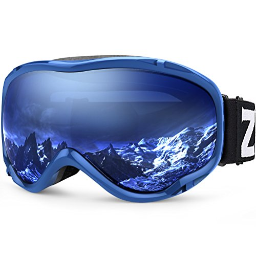 ZIONOR Lagopus Ski Snowboard Goggles UV Protection Anti Fog Snow Goggles for Men Women Youth VLT 60%...