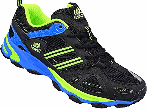 Herren Sportschuhe Sneaker Turnschuhe Schuhe gr.41-46 nr.1326 schwarz-blau-grün (42)