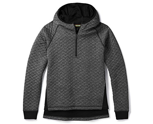 Smartwool Women's Diamond Peak Quilted Pullover Black Heather S