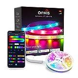 Onvis Tiras LED, Smart WiFi LED Strip Multicolor LED Strip App Control, Light Strip Compatible con Alexa y Apple HomeKit, Decoración de Cocina para el Hogar (5M)
