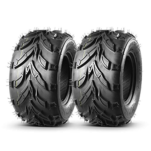 Pair of 2 MaxAuto ATV Go-Karts 16x8-7 AT off-road Tires Knobby ATV Tire ATC Tires 16/8-7 Sand Mud Trail & Track Tires, 4 Ply Rating, Tubeless