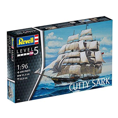Revell Modellbausatz Schiff 1:96 - Cutty Sark im Maßstab 1:96, Level 5, originalgetreue Nachbildung mit vielen Details, Segelschiff, 05422