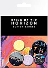 1art1 Bring Me The Horizon Badge Pack - That's The Spirit, Umbrella, 4 X 25mm & 2 X 32mm Badges (6 x 4 inches)