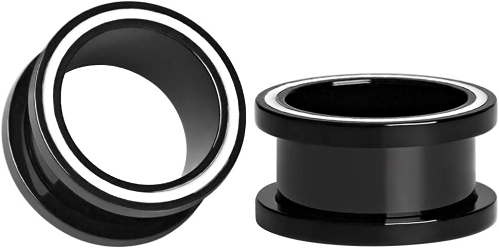 KUBOOZ In a popularity Ear Plug Tunnel Gauge Piercing Simple Stainless Stretcher Special Campaign