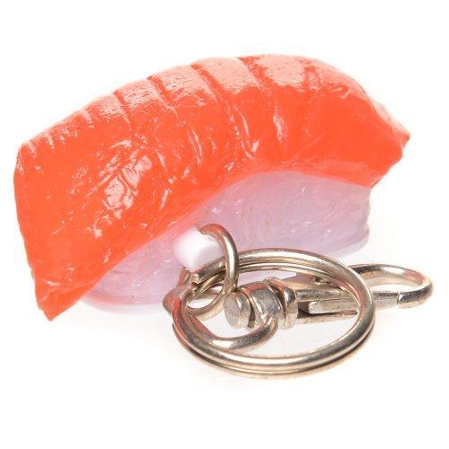 Salmon Sushi Keychain with LED Light