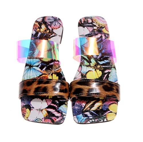 TYPING Zapato Plano Estampado Serpiente Mujer Sandalias Zapatillas Mujer Playa De Moda...