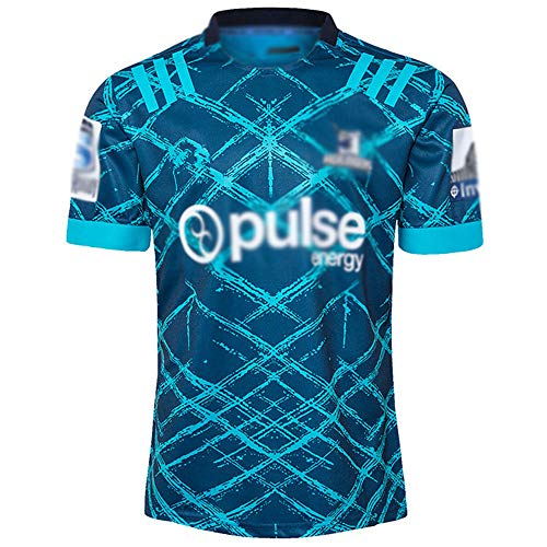 LQLD WM Männer Rugby Jersey 2020 Highlanders Auswärts Rugby Jersey, Breathable Sporttraining Wear Short Sleeve Pullover,Away Game,XL