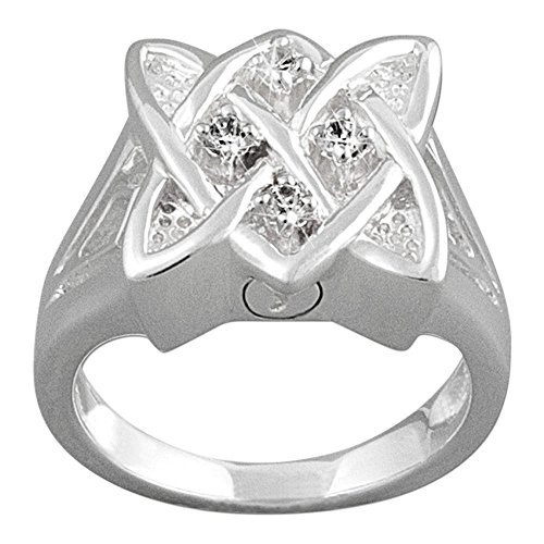 Perfect Memorials Celtic Knot Sterling Silver Cremation Ring Size 6
